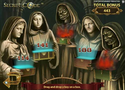 Secret Code Review Slots 443 coins awarded during bonus game