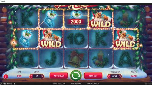 Secrets of Christmas Review Slots A five of a kind triggers a 2000.00 line payout!