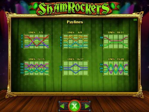 Shamrockers Eire To Rock Review Slots Payline Diagrams 1-20