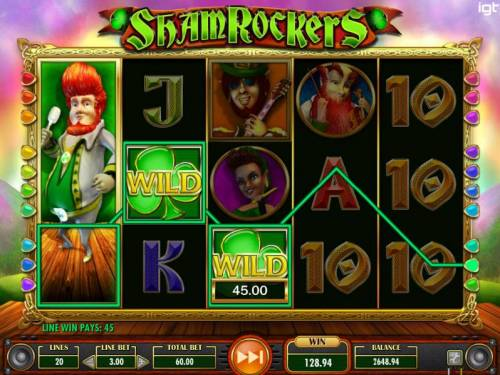 Shamrockers Eire To Rock Review Slots Stacked major symbol on reel 1 triggers multiple winning paylines.