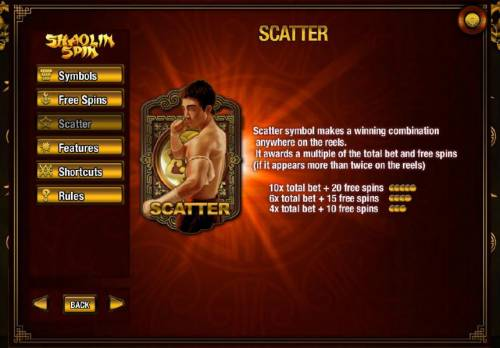 Shaolin Spin Review Slots Scatter symbols paytable