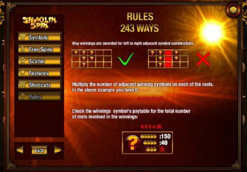 Shaolin Spin Review Slots 243 Ways Rules