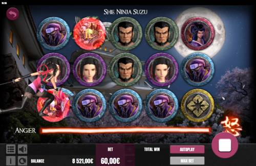 She Ninja Suzu Review Slots Feature triggered