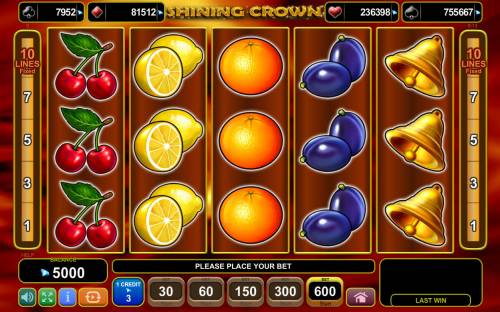Shining Crown Review Slots Main Game Board