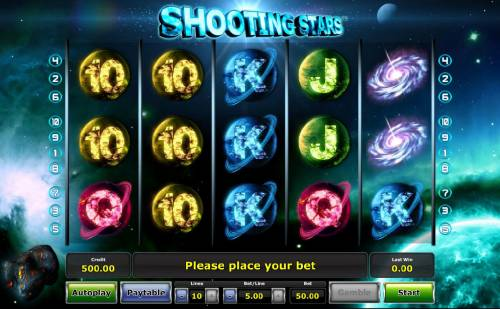 Shooting Stars review on Review Slots