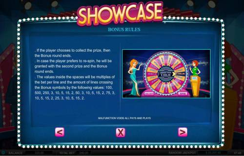 Showcase Review Slots Bonus Rules - Continued