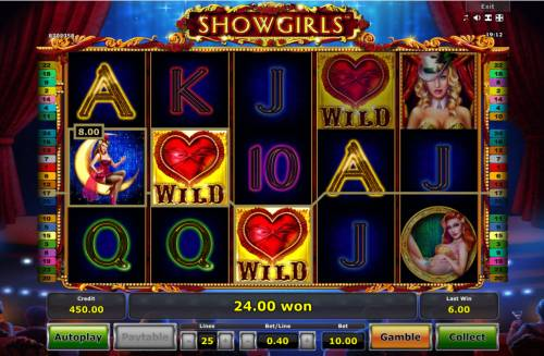 Showgirls Review Slots Four of a kind