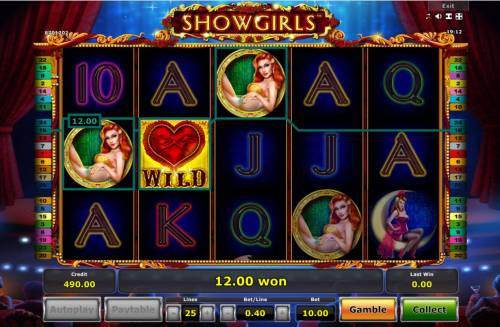 Showgirls Review Slots A winning three of a kind