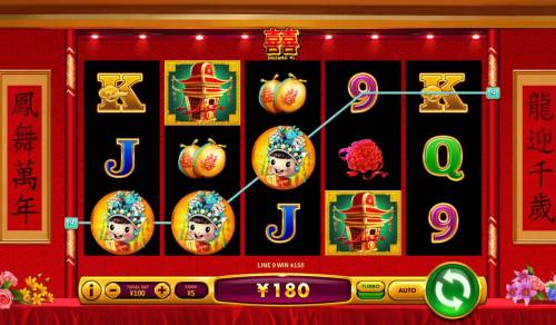 Shuang Xi Review Slots A winning Three of a Kind