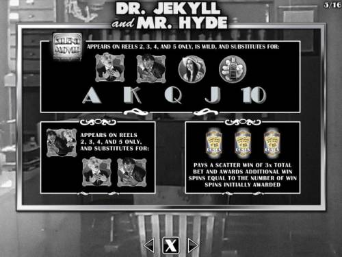 Silent Movie Review Slots Dr. Jekyll and Mr. Hyde Bonus - Wild and Scatter Symbols