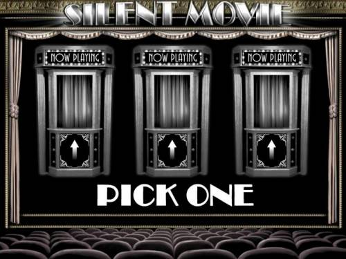 Silent Movie Review Slots Pick a booth to reveal the number of free spins to be played.