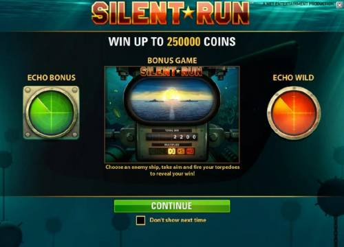 Silent Run Review Slots win up to 250000 coins