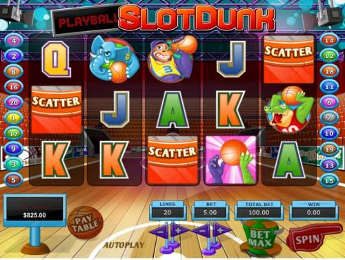 Slot Dunk Review Slots Three or more scatter symbols anywhere on the reels triggers the free spins feature.