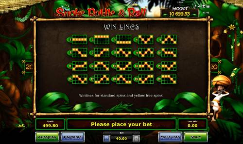 Snake Rattle & Roll Review Slots Standard Win Lines 1-20
