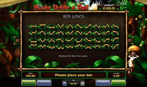 Snake Rattle & Roll Review Slots Blue Free Spins Win Lines 1-40