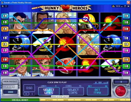 Sneak a Peek-Hunky Heroes Review Slots