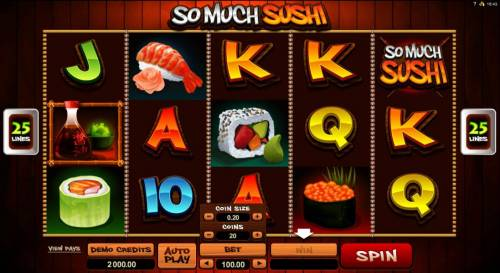 So Much Sushi review on Review Slots