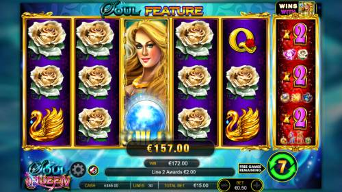 Soul Queen Quad Shot Review Slots Stacked wild triggers a big win
