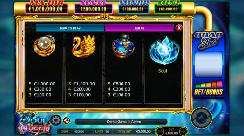 Soul Queen Quad Shot Review Slots Free Spins Medium Win Symbols