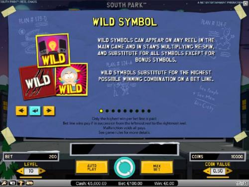 South Park Reel Chaos Review Slots Wild Symbol rules