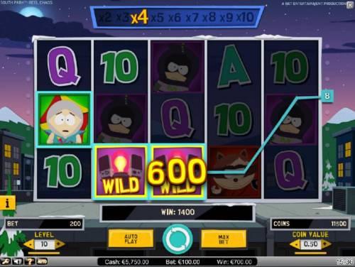 South Park Reel Chaos Review Slots Stans Multiplying Re-Spin Feature Triggers a 1100 coin Big Win!