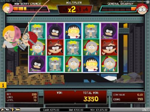 South Park Reel Chaos Review Slots With each non-winning spin during the bonus feature, your enemy gets a chance to hit you, zapping your life meter.
