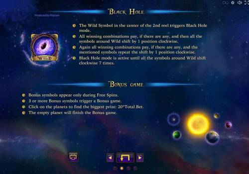 Space Corsairs Review Slots Black Hole id the games wild symbol and substitutes for all symbols except scatters and bonus symbol.