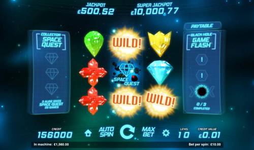 Space Gems Review Slots Space Quest bonus feature triggered with the aid of sun wild symbols.