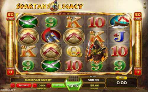 Spartans Legacy Review Slots Main Game Board