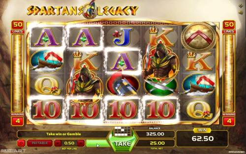 Spartans Legacy Review Slots Multiple winning paylines