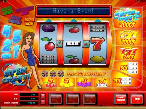 Spin Crazy review on Review Slots