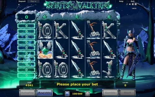 Spirits of Valkyrie Review Slots Main Game Board