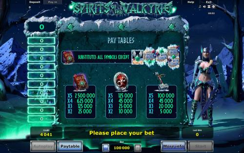 Spirits of Valkyrie Review Slots High Value Symbols