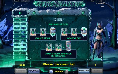 Spirits of Valkyrie Review Slots Feature Rules