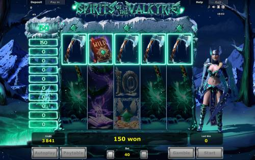 Spirits of Valkyrie Review Slots A winning five of a kind