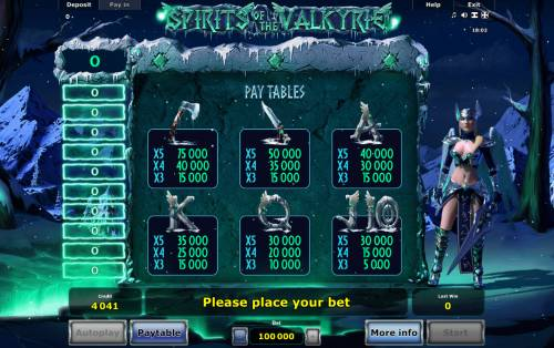 Spirits of Valkyrie Review Slots Low Value Symbols
