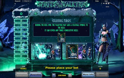 Spirits of Valkyrie Review Slots Colossal Magic