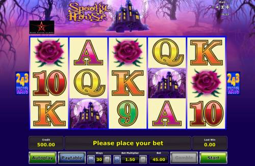 Spooky House Review Slots Main Game Board
