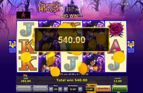 Spooky House Review Slots Multiple winning paylines triggers a big win