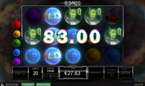 Stars Awakening Review Slots A winning Five of a Kind.