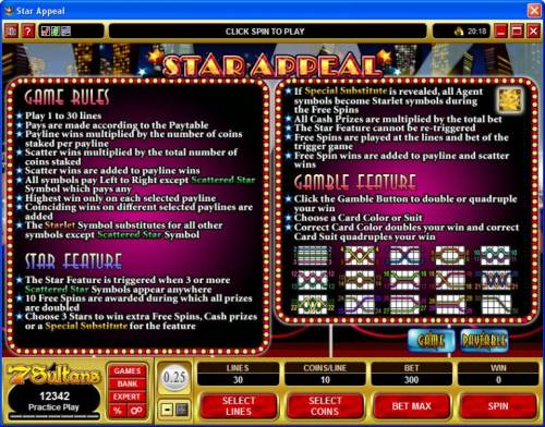 Star Appeal review on Review Slots