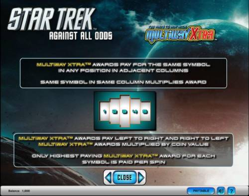 Star Trek - Against All Odds Review Slots Star Trek - Against All Odds slot game 720 ways to win with Multiway Xtra