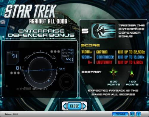 Star Trek - Against All Odds Review Slots Star Trek - Against All Odds slot game enterprise defender bonus