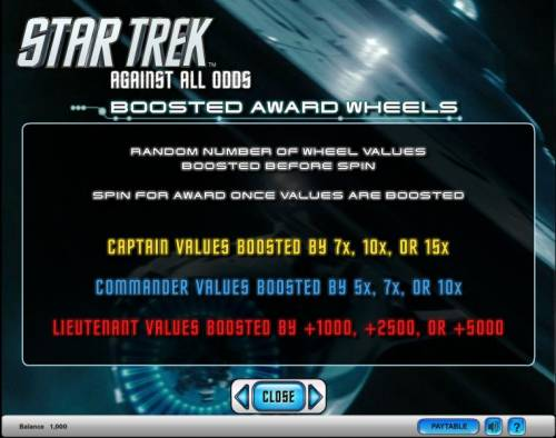 Star Trek - Against All Odds Review Slots Star Trek - Against All Odds slot game boosted award wheels