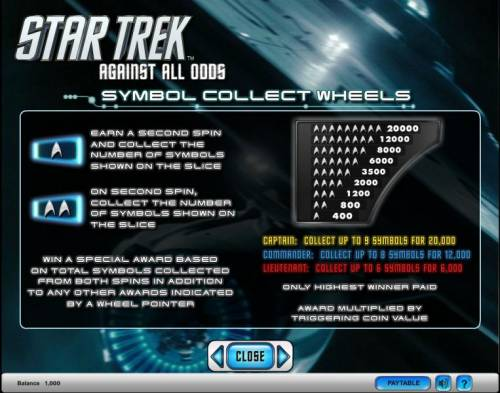 Star Trek - Against All Odds Review Slots Star Trek - Against All Odds slot game symbol collect wheels