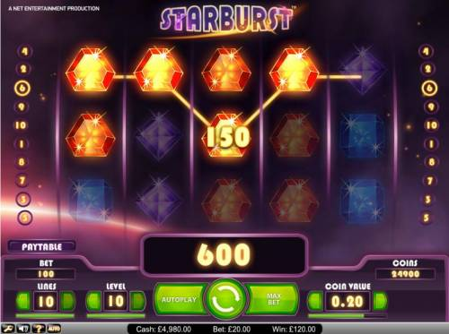 Starburst Review Slots Starburst 600 credit jackpot win