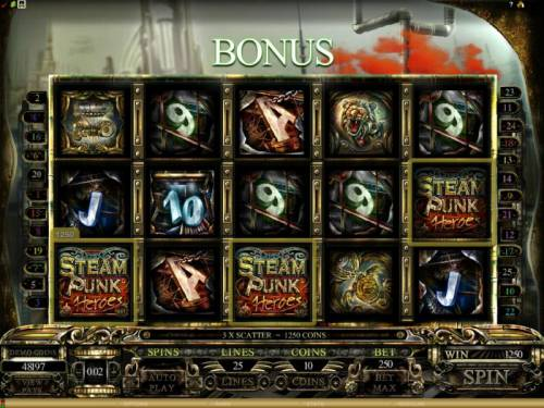 Steam Punk Heroes review on Review Slots