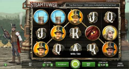 Steam Tower review on Review Slots