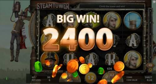 Steam Tower Review Slots A 2400 coin Big Win!