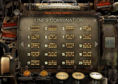 Steampunk Luck Review Slots Payline Diagrams 1-20